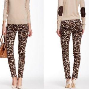 Kate Spade. Broome st. Leopard skinny jeans. 24